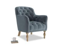 Reader Armchair in Odyssey Clever Deep Velvet