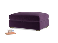 Bumper Storage Footstool in Deep Purple Clever Deep Velvet