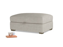 Bumper Storage Footstool in Grey Daybreak Clever Laundered Linen