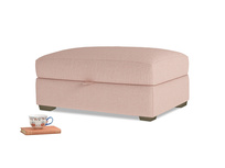 Bumper Storage Footstool in Pale Pink Clever Woolly Fabric