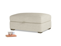 Bumper Storage Footstool in Shell Clever Laundered Linen