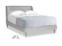 Double Puffball Bed in Flint brushed cotton