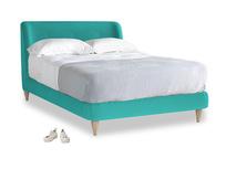 Double Puffball Bed in Fiji Clever Velvet