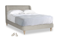 Double Puffball Bed in Grey Daybreak Clever Laundered Linen