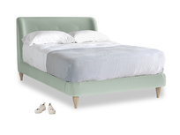 Double Puffball Bed in Mint clever velvet