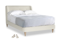 Double Puffball Bed in Oat brushed cotton