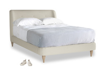 Double Puffball Bed in Pale rope clever linen