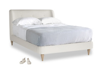 Double Puffball Bed in Oyster white clever linen