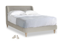 Double Puffball Bed in Smoky Grey clever velvet