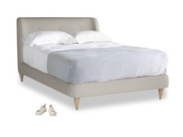 Double Puffball Bed in Sailcloth grey Clever Woolly Fabric