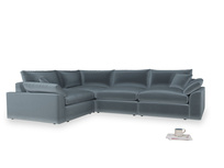 Large left hand Cuddlemuffin Modular Corner Sofa in Odyssey Clever Deep Velvet