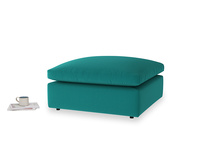 Cuddlemuffin Footstool in Indian green Brushed Cotton