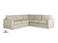 Even Sided  Chatnap modular corner storage sofa in Shell Clever Laundered Linen with both arms