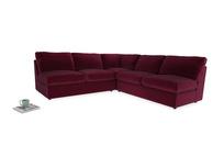 Even Sided  Chatnap modular corner storage sofa in Merlot Plush Velvet