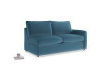Chatnap Sofa Bed in Old blue Clever Deep Velvet with a right arm