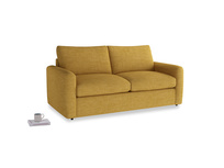 Chatnap Sofa Bed in Mellow Yellow Clever Laundered Linen with both arms