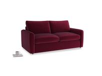 Chatnap Sofa Bed in Merlot Plush Velvet with both arms