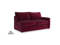 Chatnap Sofa Bed in Merlot Plush Velvet with a right arm
