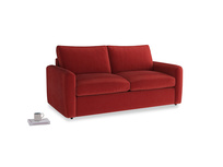 Chatnap Sofa Bed in Rusted Ruby Vintage Velvet with both arms