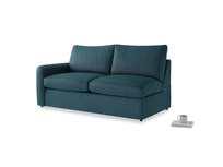 Chatnap Sofa Bed in Harbour Blue Vintage Linen with a left arm