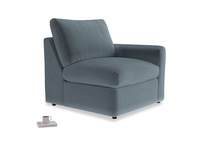 Chatnap Storage Single Seat in Odyssey Clever Deep Velvet with a right arm