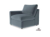 Chatnap Storage Single Seat in Odyssey Clever Deep Velvet with a left arm