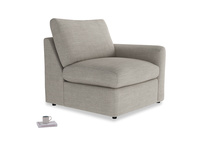 Chatnap Storage Single Seat in Grey Daybreak Clever Laundered Linen with a right arm