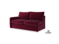 Chatnap Sofa Bed in Merlot Plush Velvet with a left arm