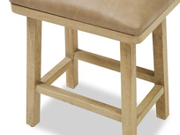Little Bumpkin small wooden and leather kitchen stool