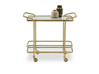 Little Soak brass and glass drinks trolley