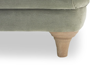 Pudding upholstered sofa leg detail