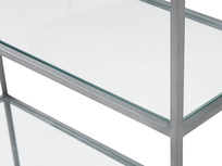 Tall Wolfie glass and metal shelf