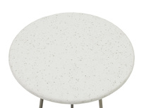 Little Scamp terrazzo white marble top detail