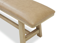 Bumpkin kitchen bench leather top detail