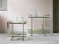 Antique brass drinks trolley range