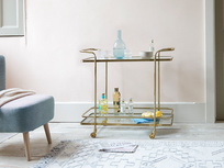 Big Soak antique brass drinks trolley