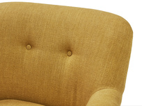 Diggidy button back occasional chair back detail