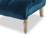Scoop button back occasional bedroom chair