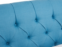 Chesterfield beautiful upholstered buttoned Dozer scroll bed