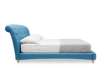 Dozer Chesterfield scroll upholstered buttoned bed