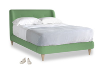 Double Puffball Bed in Clean green Brushed Cotton