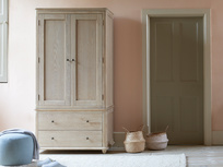 Amory solid oak wooden wardrobe
