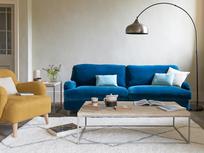 Casbah rug and Jonesy low arm sofa