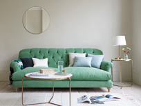 Truffle button back contemporary sofa