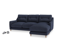Large right hand Slim Jim Chaise Sofa in Seriously Blue Clever Softie