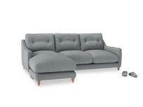 Large left hand Slim Jim Chaise Sofa in Armadillo Clever Softie