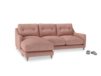 Large left hand Slim Jim Chaise Sofa in Blossom Clever Laundered Linen