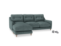 Large left hand Slim Jim Chaise Sofa in Anchor Grey Clever Laundered Linen