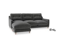 Large left hand Slim Jim Chaise Sofa in Shadow Grey wool