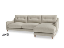XL Right Hand  Slim Jim Chaise Sofa in Thatch house fabric